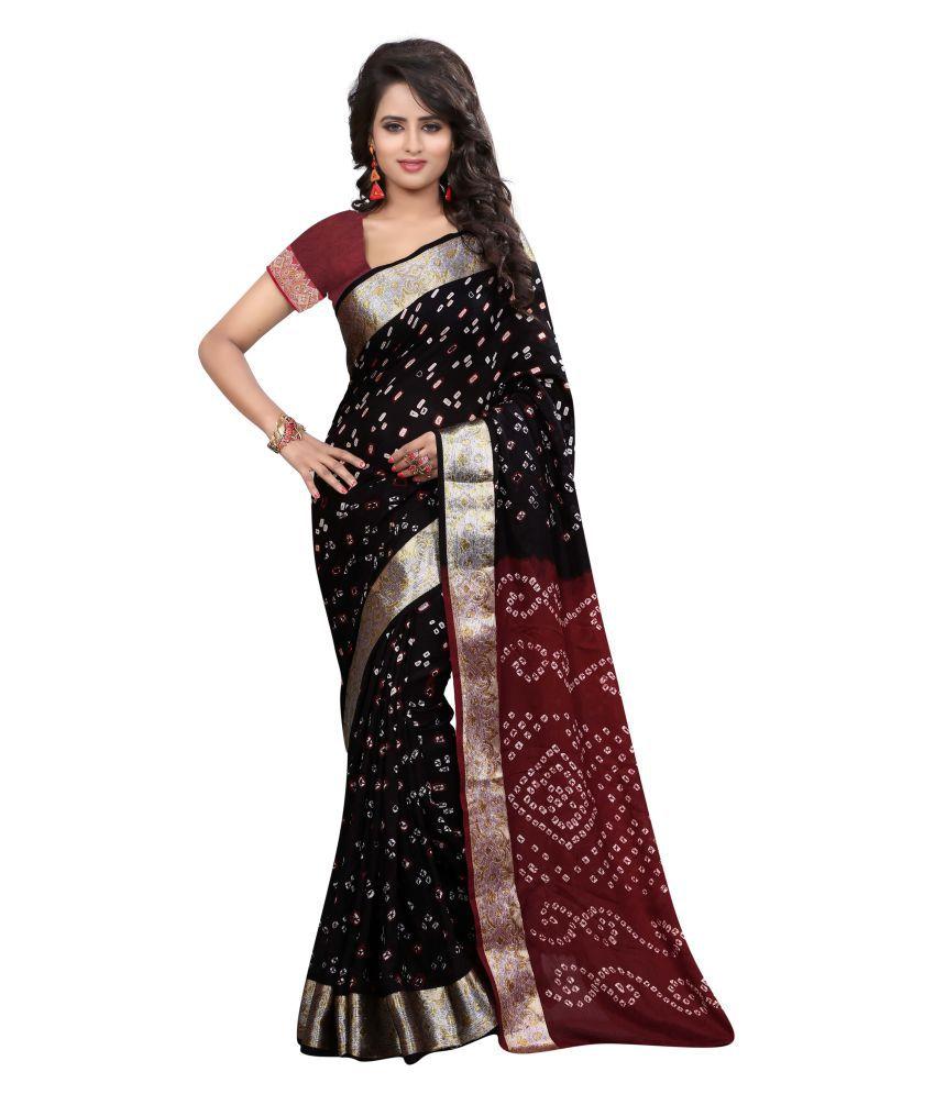 Concepta Black Art Silk Saree
