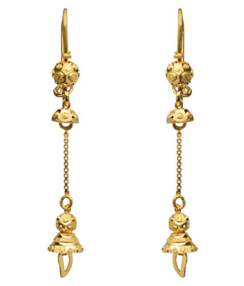 Jewelmantra 22k BIS Hallmarked Gold None Studs