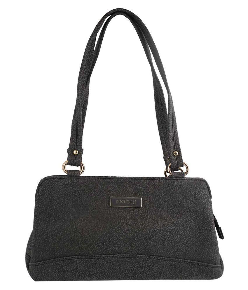 MOCHI BLACK Artificial Leather Shoulder Bag