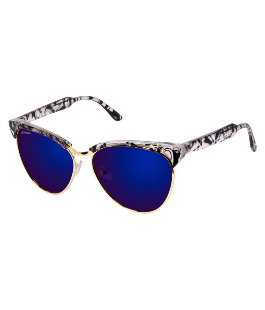 Cardon Blue Cat Eye Sunglasses ( 583 )