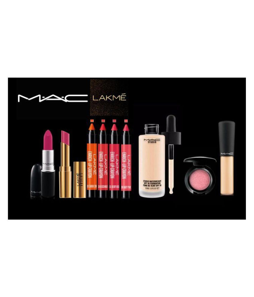 Imported Combo Kit Mac Retro Matte pink Lipstick , Lakme Absolute Nudes Pink Lipstick , Lakme ...