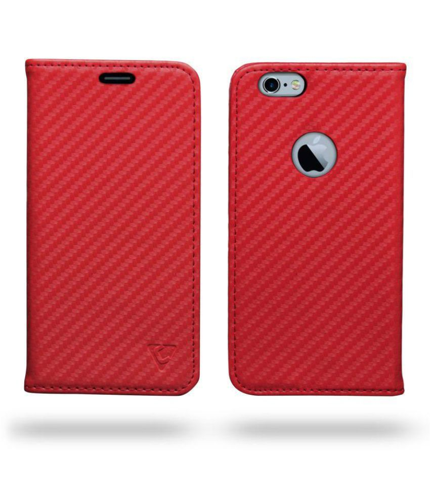 Apple iPhone 6 Flip Cover by Ceego - Red