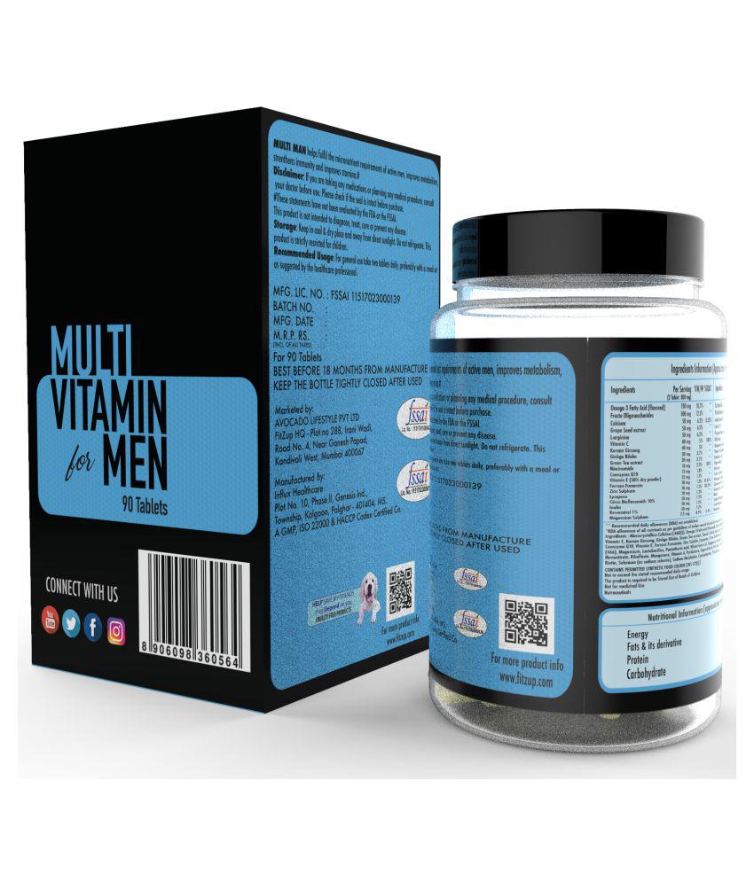 Fitzup Multi vitamin Men 90 no s Vitamins Tablets