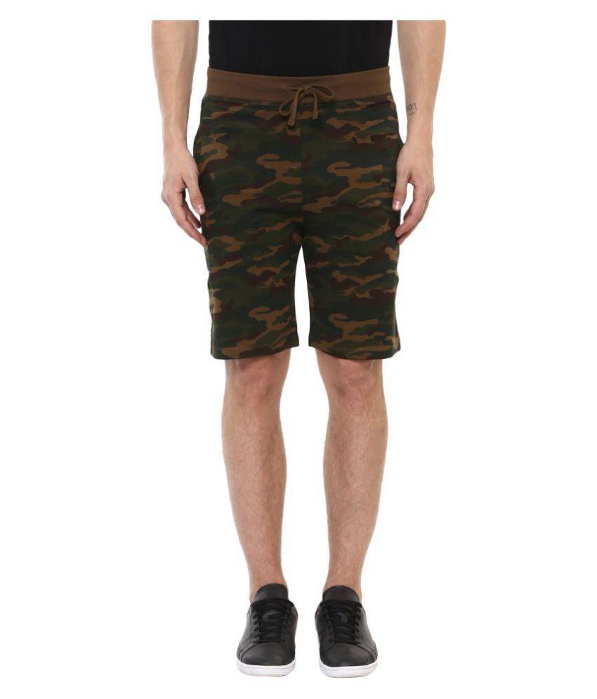 Urbano Fashion Green Shorts