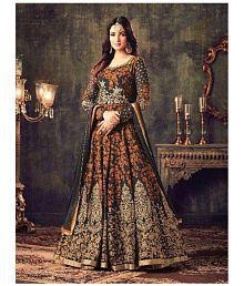 SareeShop Designer SareeS Orange Georgette Dress Material