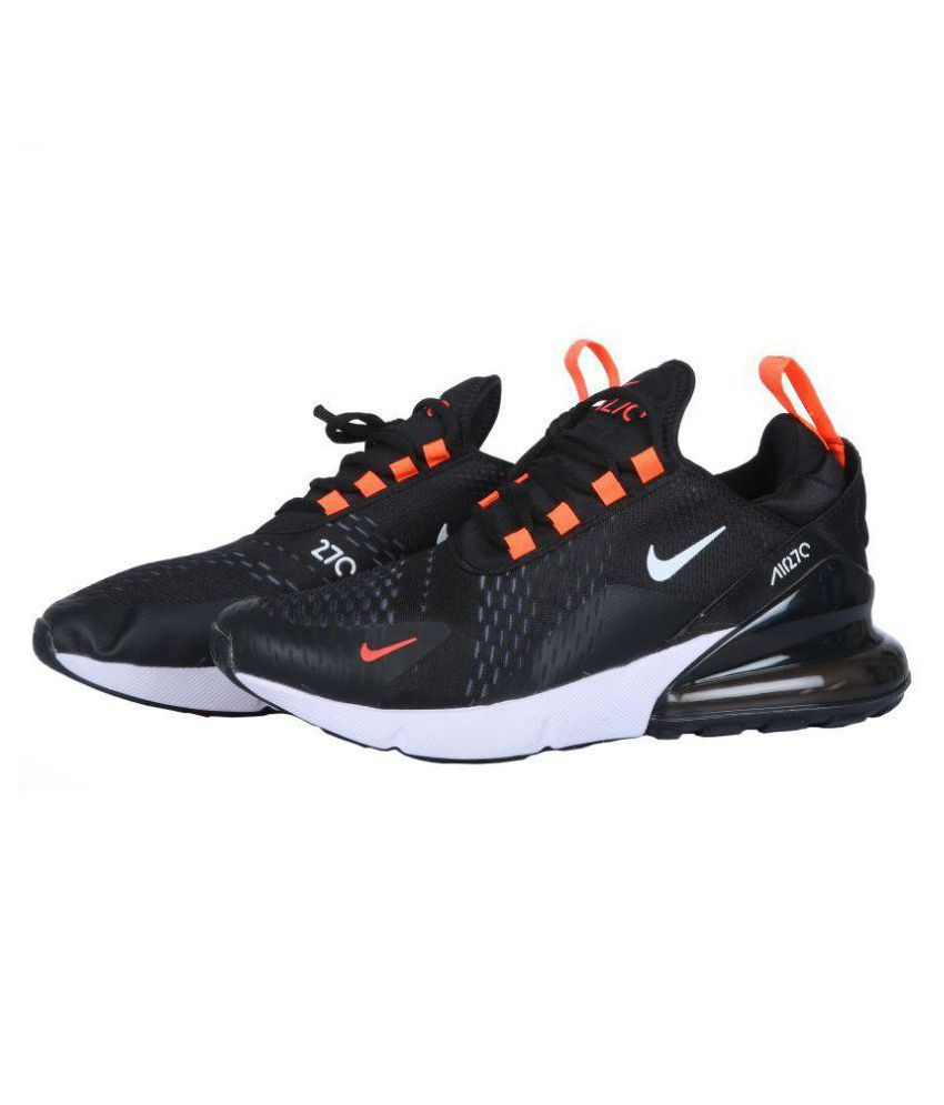2177222280f Nike AIR MAX 270 Flyknit Black Running Shoes - Buy Nike AIR MAX 270 Flyknit  Black Running Shoes Online at Best Prices in India on Snapdeal