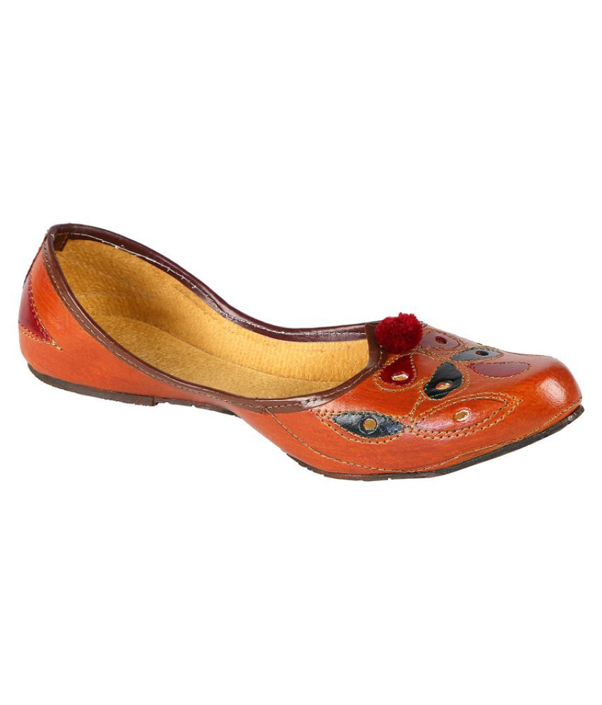 Zappy Tan Ethnic Footwear
