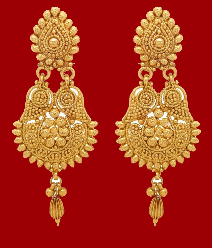 Youbella Gold Plated Hangings Earrings For Women - Buy ...
