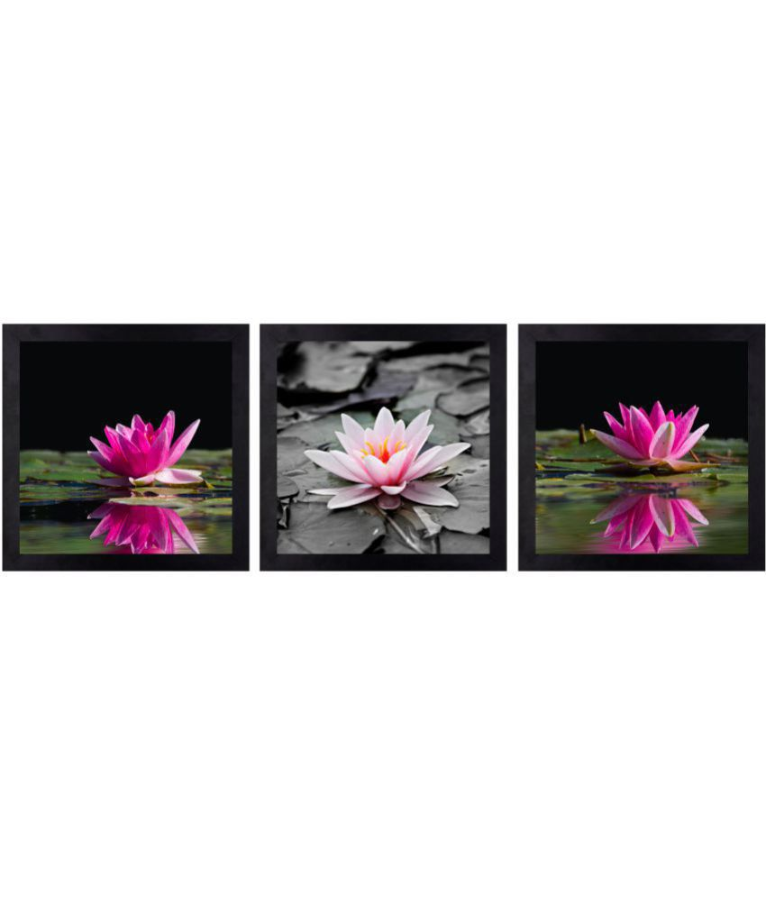 CRAFTSFEST BEAUTIFULL FLOWER DIGITAL REPRINT CANVAS PAINTING Canvas Painting With Frame