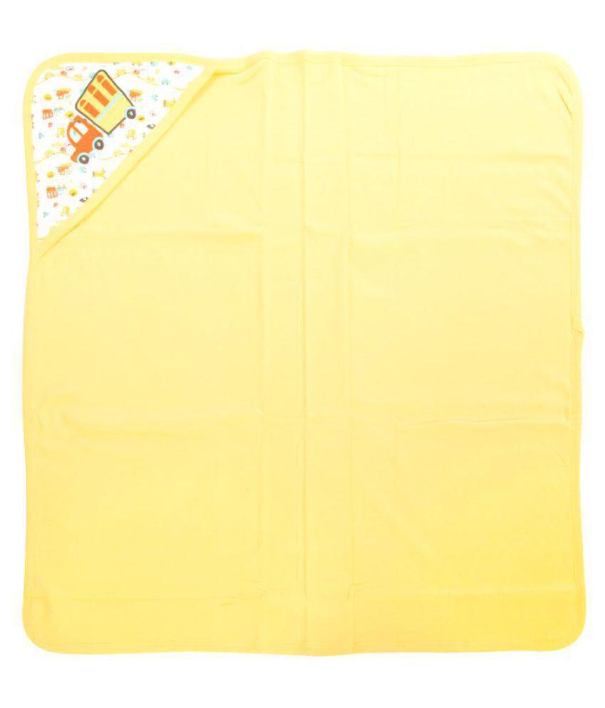 Mee Mee Yellow Cotton Baby Wrap cum blanket ( 29 cm × 2 cm - 1 pcs)