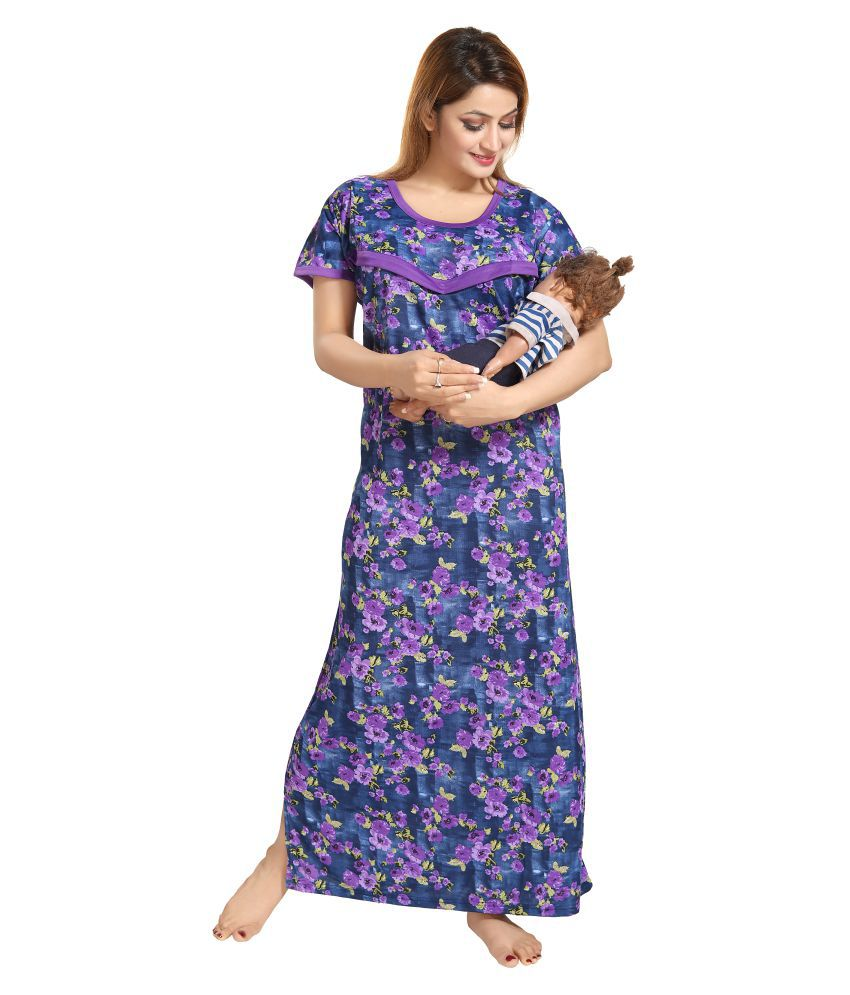 Shopping Station Satin Nighty & Night Gowns - Blue