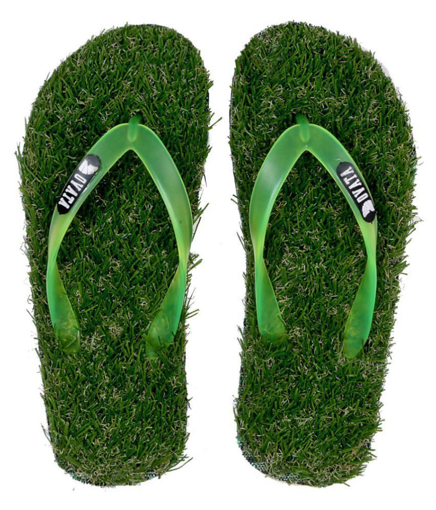 595877f8e775 ovata Footwear Men s Grass Slipper Green Daily Slippers Price in India- Buy  ovata Footwear Men s Grass Slipper Green Daily Slippers Online at Snapdeal