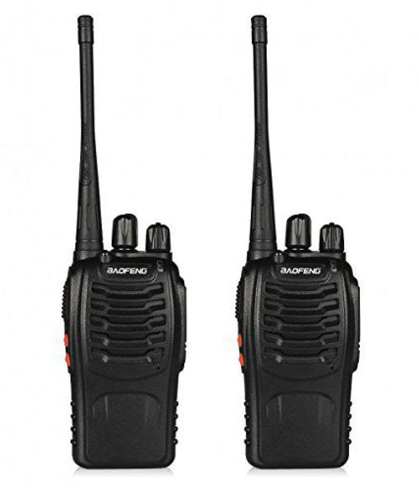 Baofeng BF-888S UHF 400-470MHz CTCSS/DCS With Earpiece Handheld Amateur Radio Tranceiver Walkie Talkie Two Way Radio Long Range Black 2 Pack