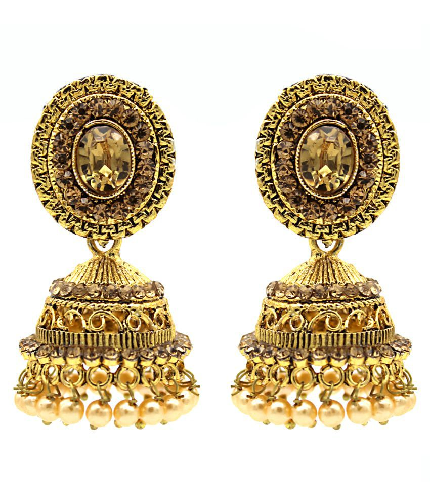 Indi Creation Traditional Jhumka Earrings For Girls and Women