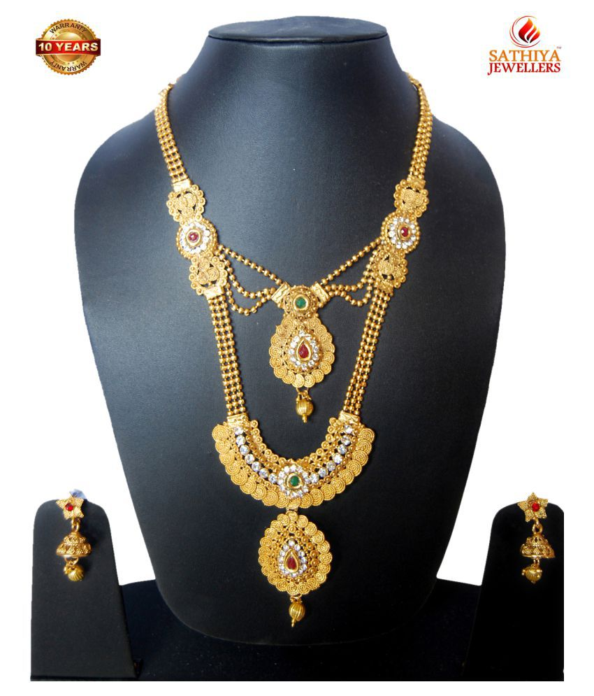 SATHIYA High Quality Gold plated Jewellery Set for Women & Girls