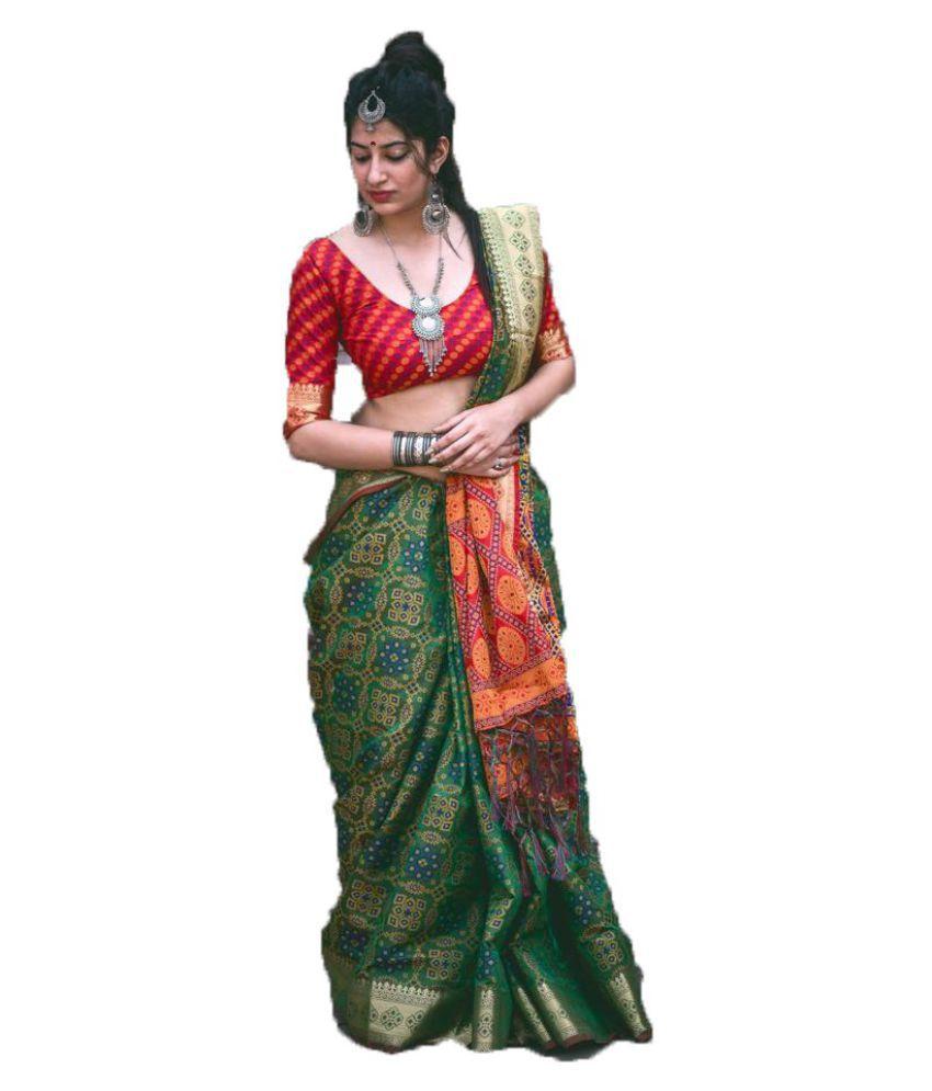 Designer Saree Home Multicoloured Banarasi Silk Saree