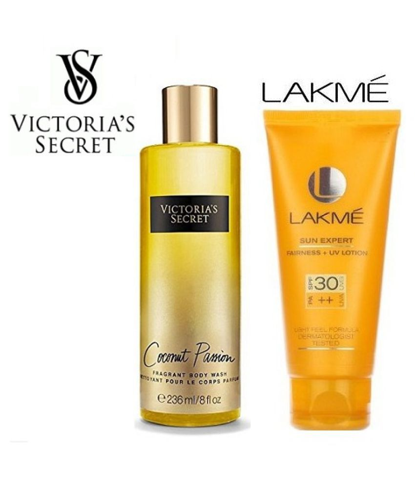 7634362299240 Victoria's Secret Body Wash & Lakme Body Lotion Moisturizing Bath Kit