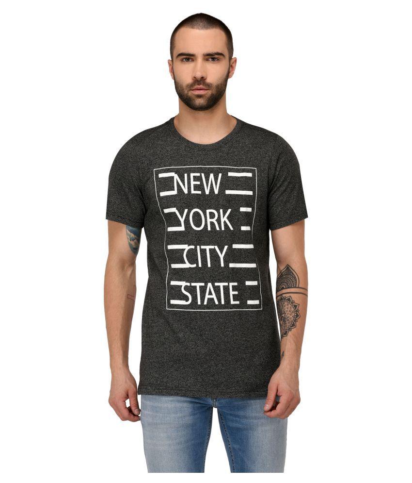 Jaaffi Black Round T-Shirt Pack of 1