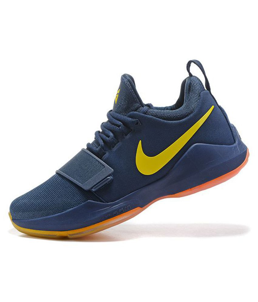 official photos 74193 e786f Nike Zoom PG 1 Blue Basketball Shoes - Buy Nike Zoom PG 1 Blue Basketball  Shoes Online at Best Prices in India on Snapdeal