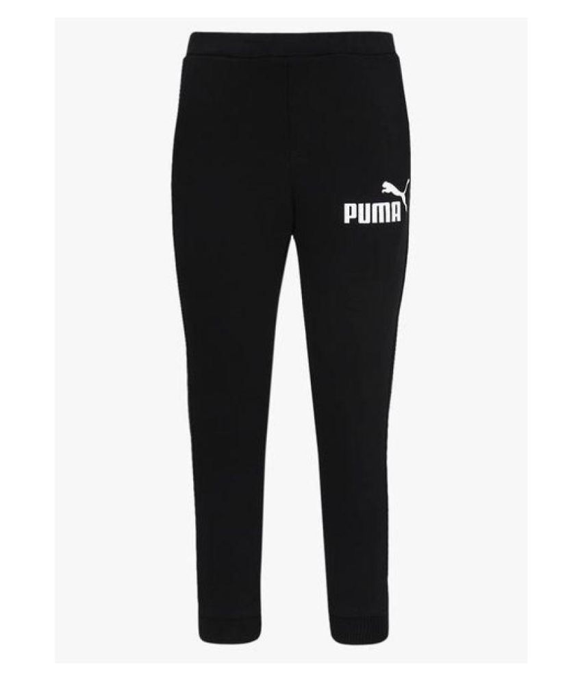 Puma CL Black Track Pant in Polyester