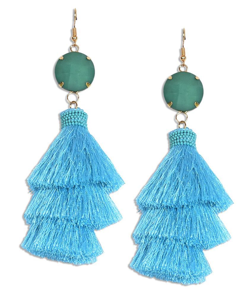 The Cats Pajama Aria Tiered Tassel Earrings