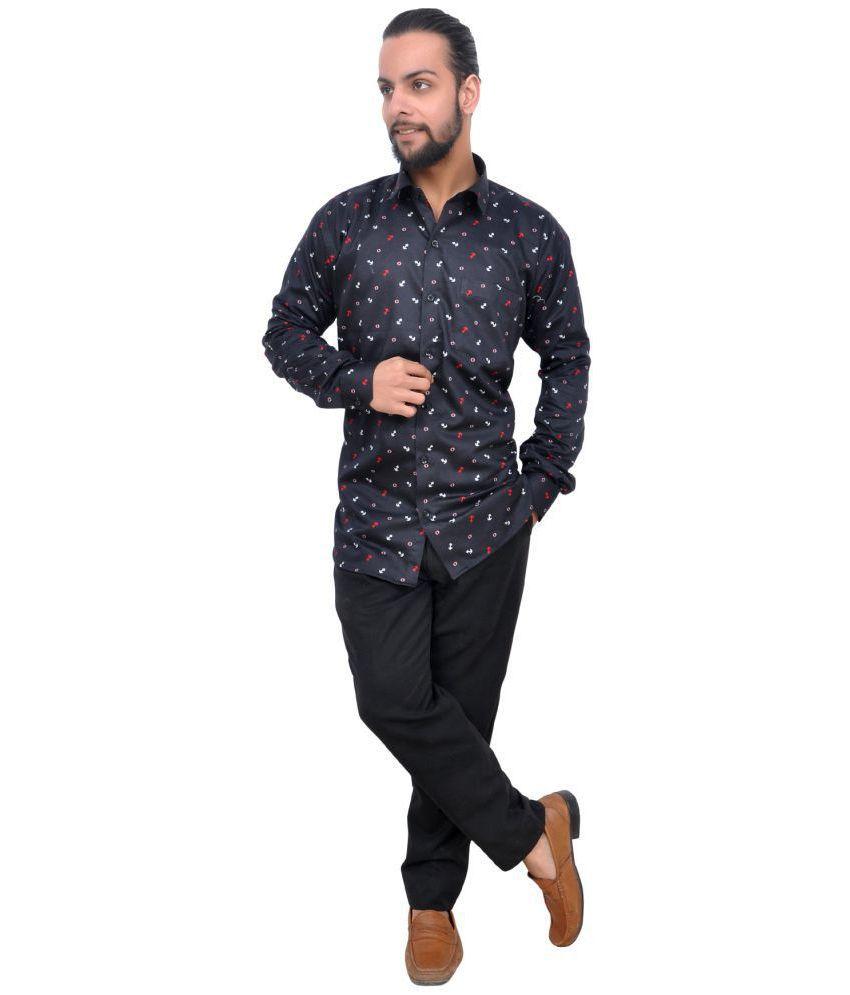 The Mods Grey Regular Fit Shirt