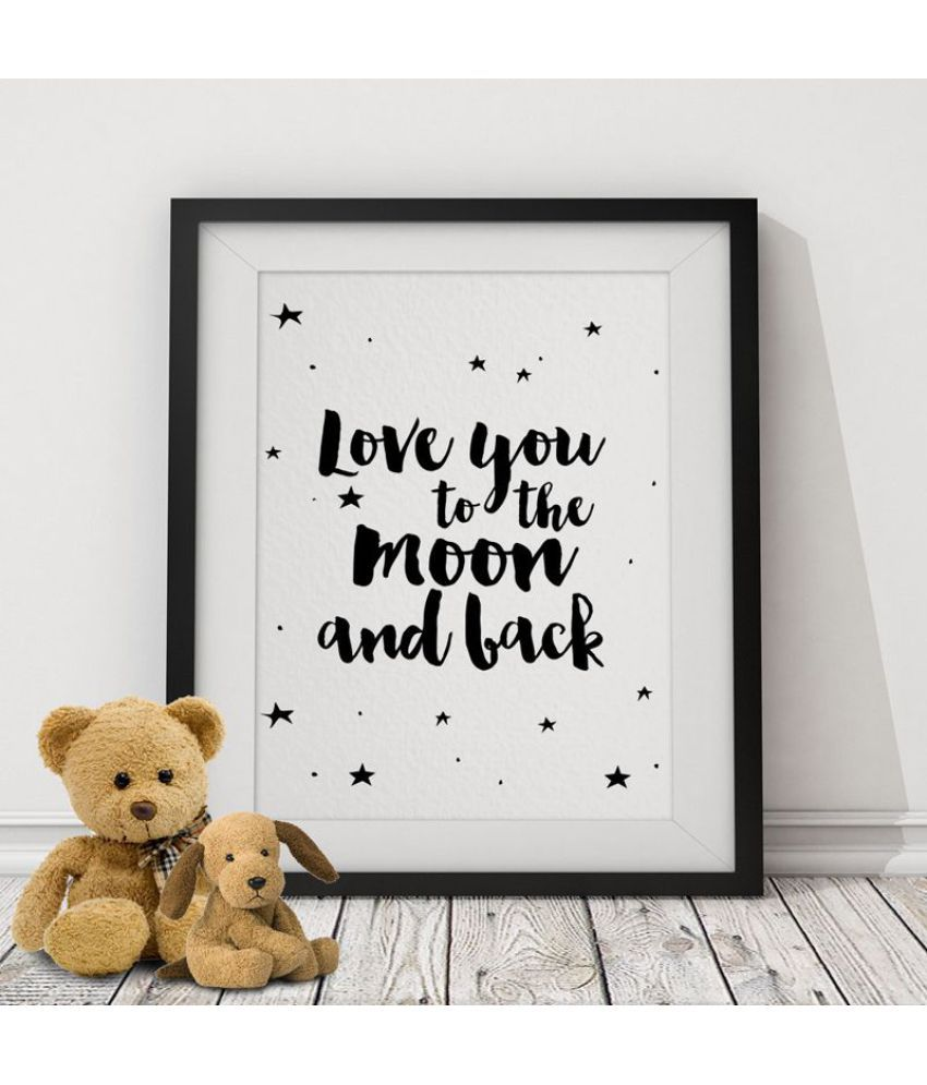 Love You To The Moon Canvas Painting without Frame AHDCP-37