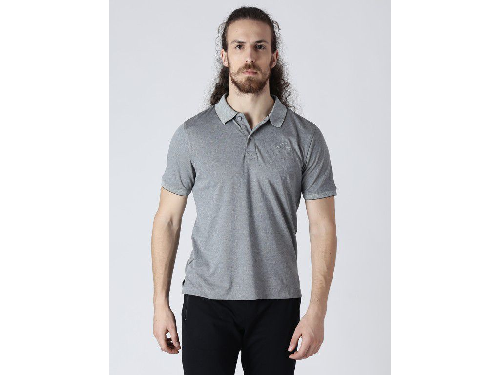 Alcis Mens Solid Grey Polo T-Shirt
