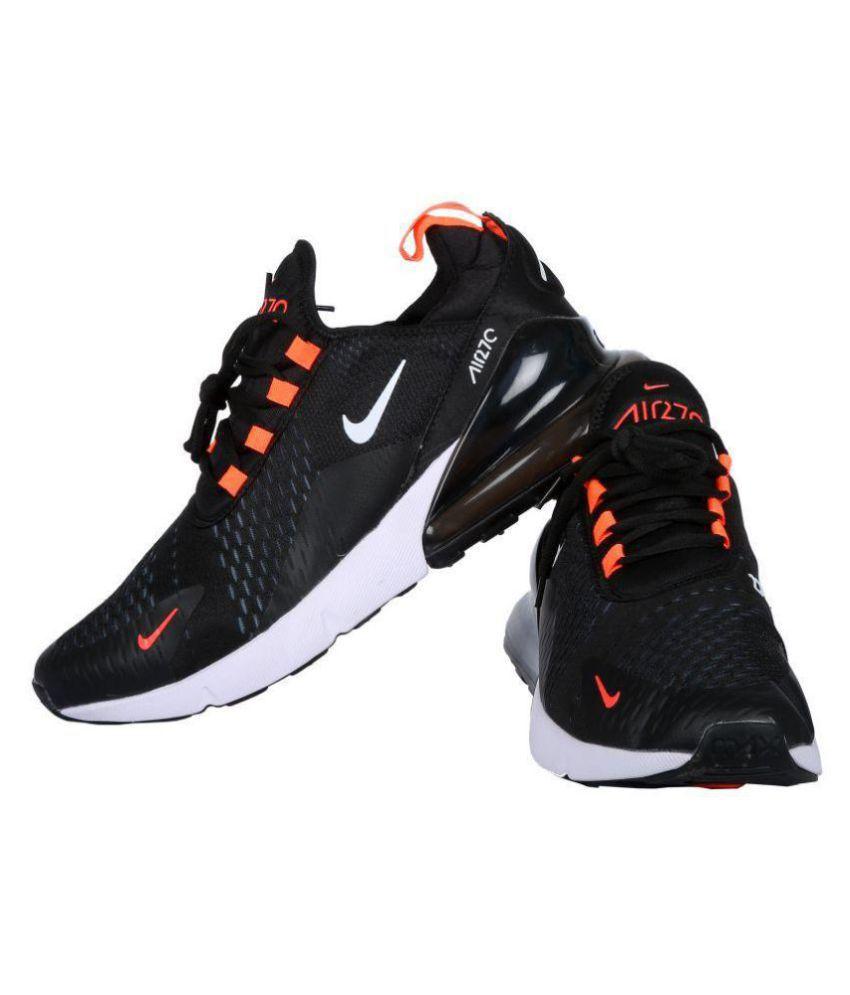 Nike AIR MAX 270 Flyknit Black Running Shoes - Buy Nike AIR MAX 270 ... 0fc4fe11d4b3f