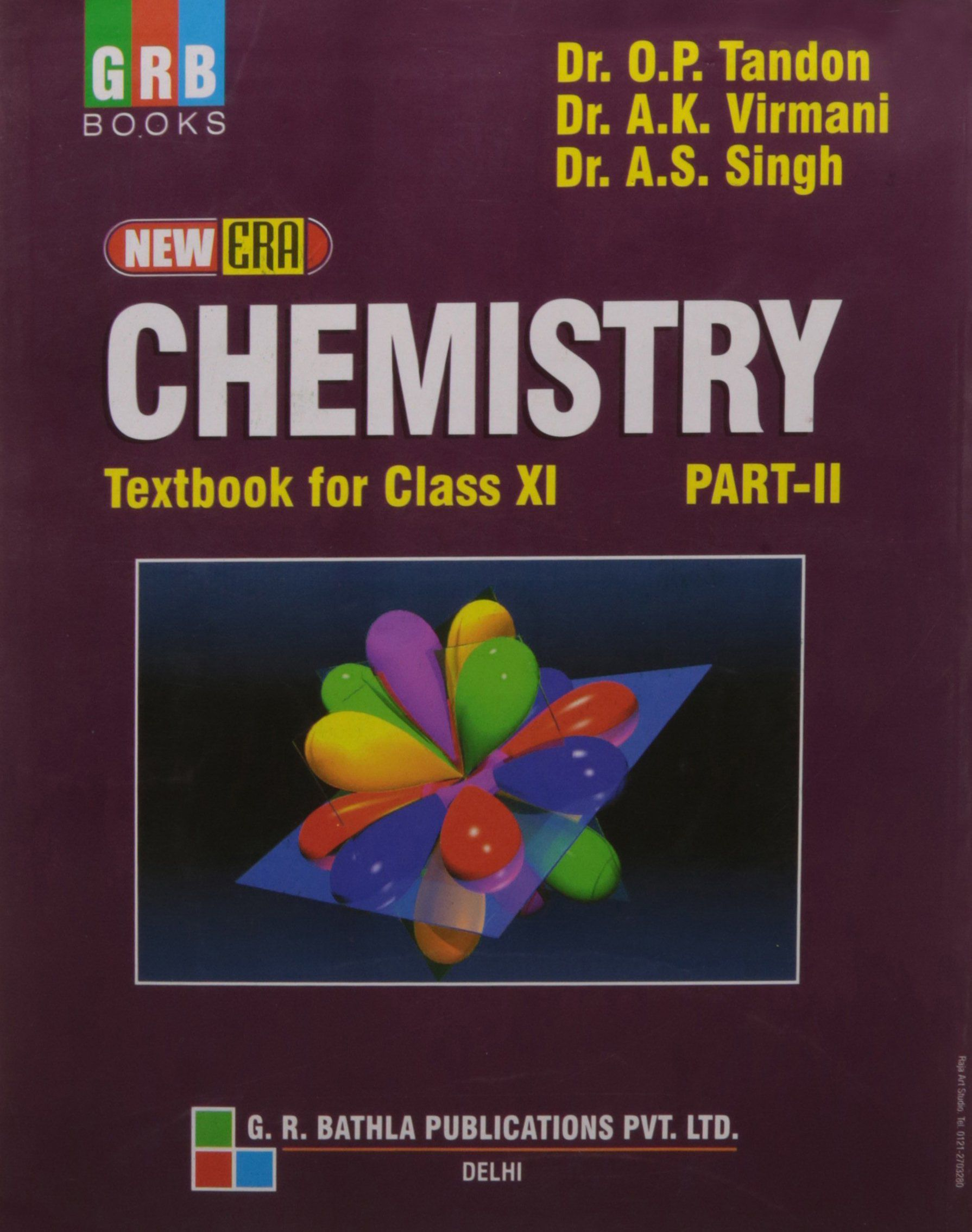 New Era Chemistry Textbook For Class 11 Part - II: Chemistry Class XI Part  - II