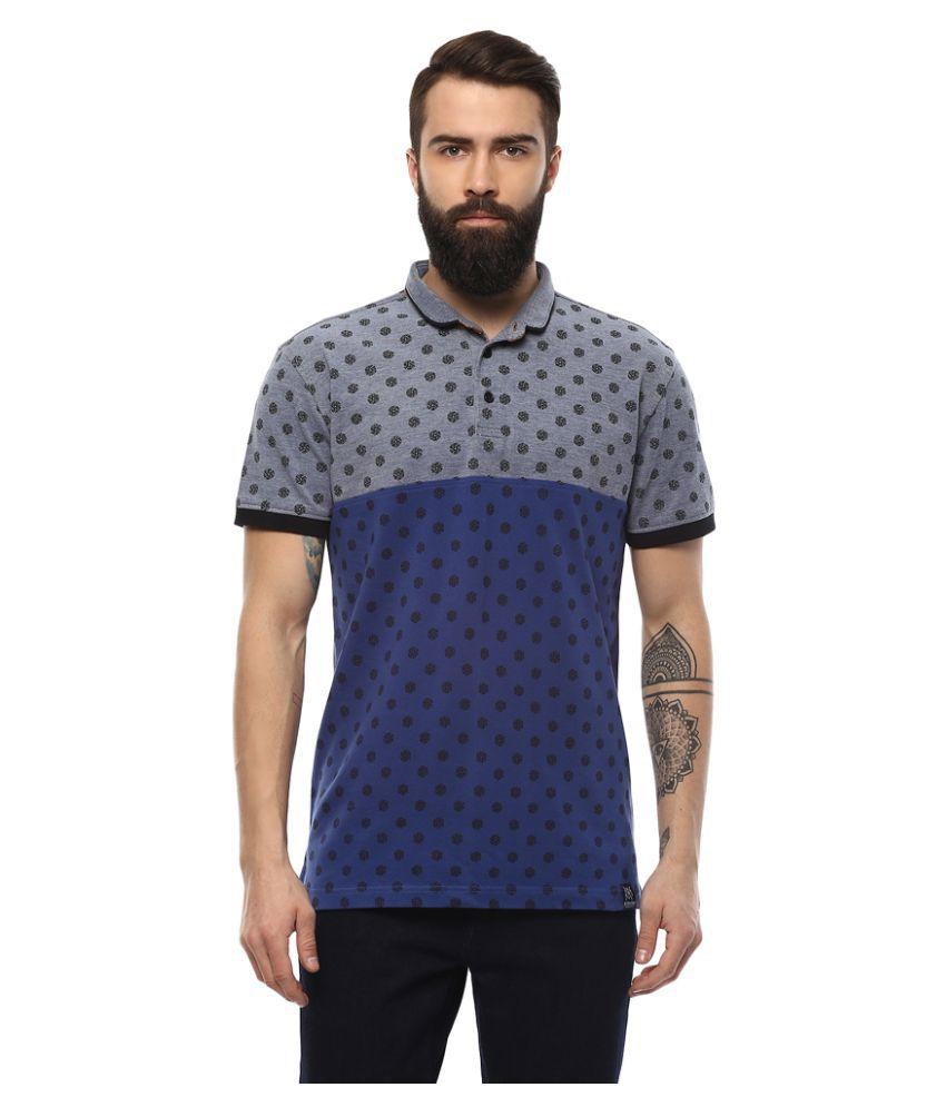 AXMANN Blue High Neck T-Shirt