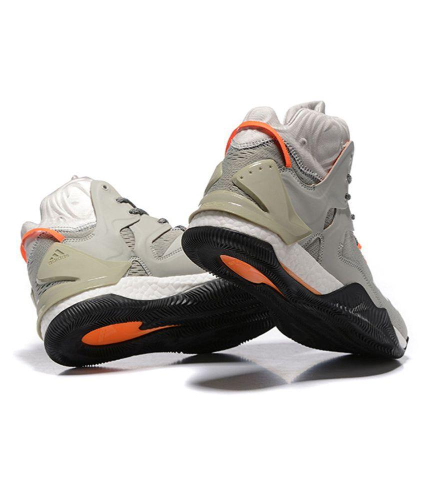 0c29e89cb61a Adidas D ROSE 7 PRIMEKNIT Gray Basketball Shoes - Buy Adidas D ROSE ...