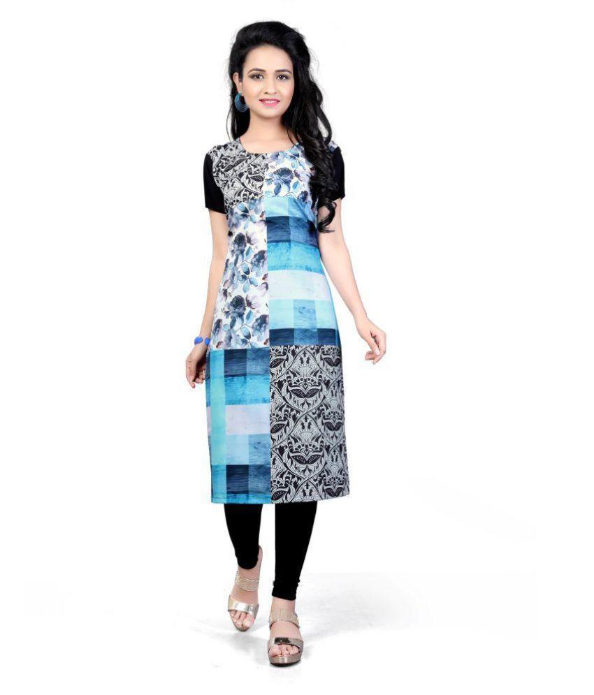 Kiya Multicoloured Cotton Silk A-line Kurti