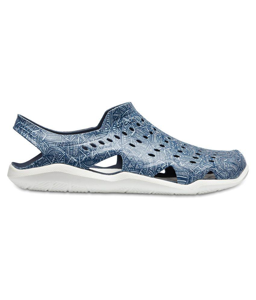 abaaca9512bf Crocs Swiftwater Wave Grph M Navy Sandals Price in India- Buy Crocs ...