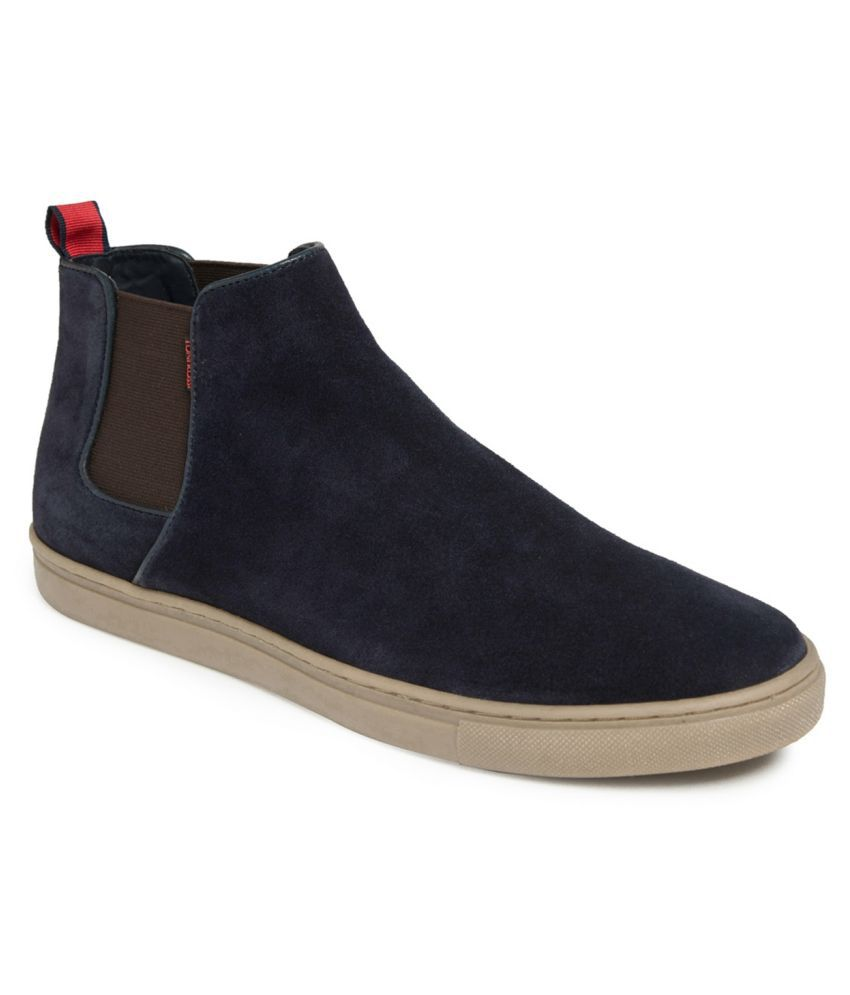 TONI ROSSI Blue Chelsea boot