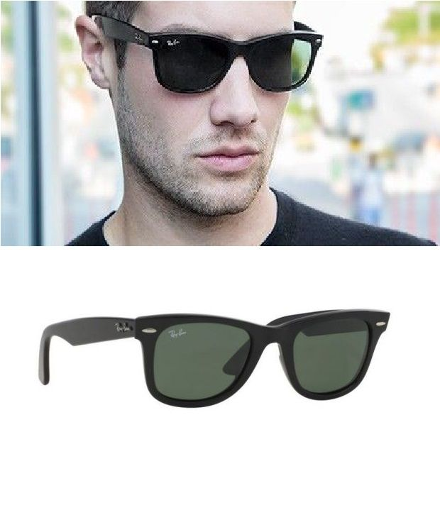 0d0a0c0a6d73c Ray-Ban Green Wayfarer Sunglasses (RB2140 901 50-22) - Buy Ray-Ban Green  Wayfarer Sunglasses (RB2140 901 50-22) Online at Low Price - Snapdeal
