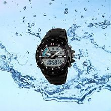 Skmei Black Trendy Casual Quartz Watch