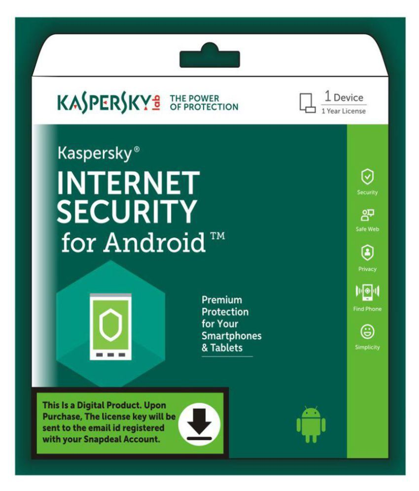 Kaspersky Android Security 2018 ( 1 PC / 1 Year ) - Activation Code-Email  Delivery