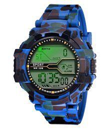 Crude's kid's Digital 7 light day date display alaram watch