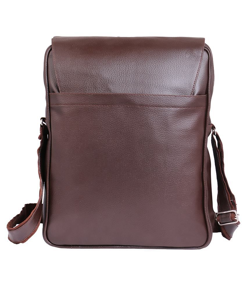 ... Tuscany Brown Premium P.U Leather Laptop Bag Office Bag Sling Bag For  Men   Women  ... fc7951d88e