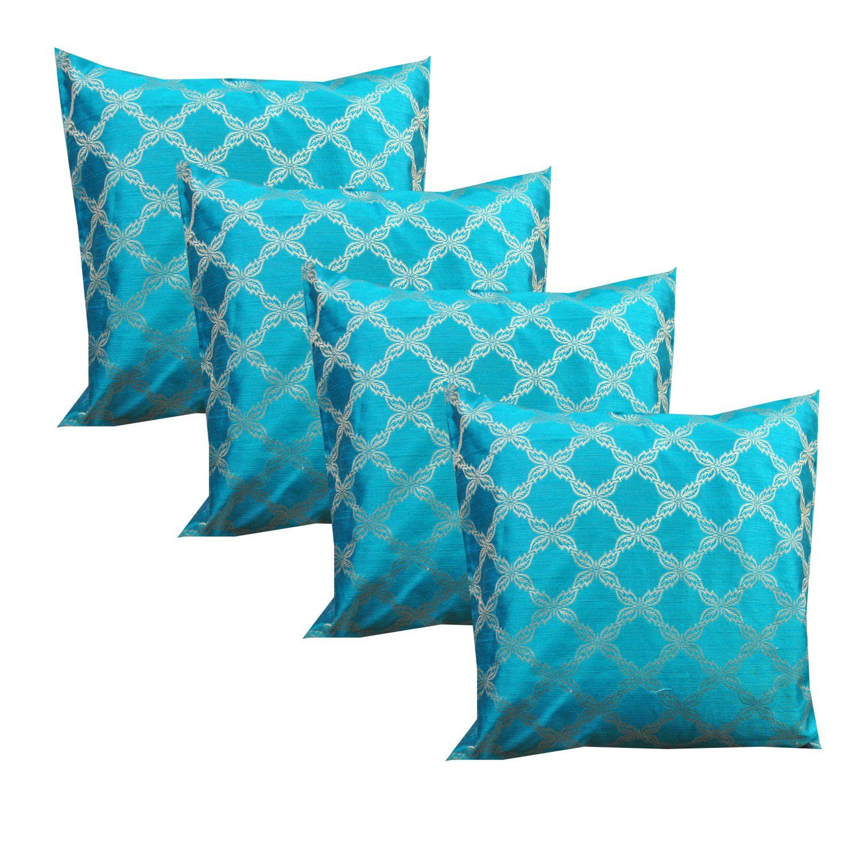 SHADES Set of 5 Silk Cushion Covers 40X40 cm (16X16)