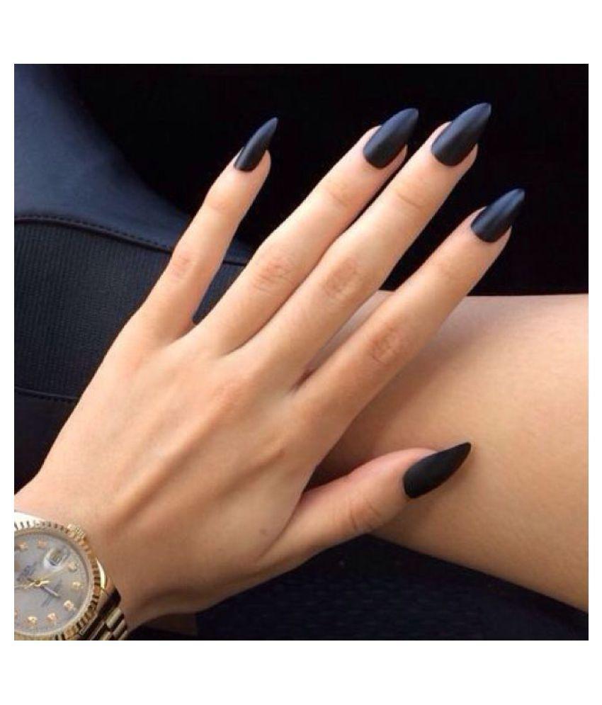 Nykaa Black Nail Enamel Nail Polish Black Matte 9 ml: Buy Nykaa ...