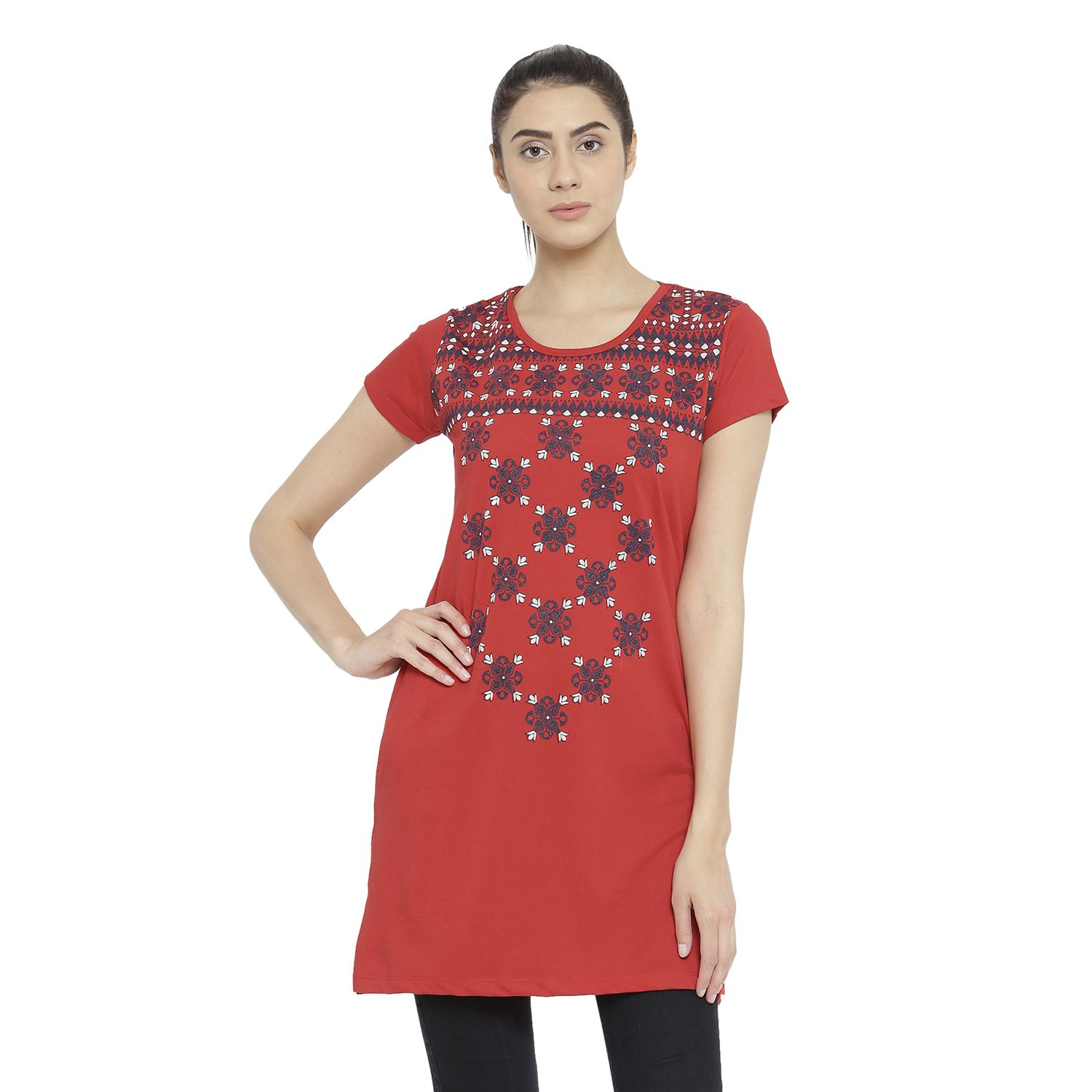 a283e361dcd Neva Cotton Tunics - Red - Buy Neva Cotton Tunics - Red Online at Best  Prices in India on Snapdeal