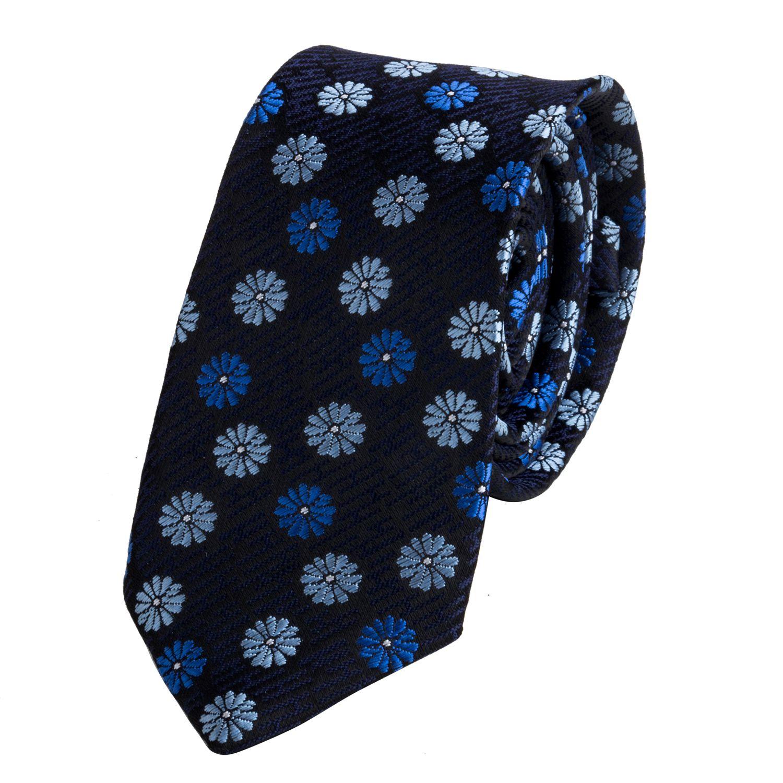 Jaaffi Navy Floral Micro Fiber Necktie