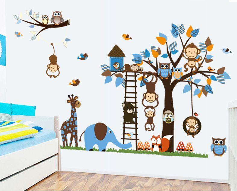 Absoluteindia Kids Room Wall Sticker Kids Nursery Baby Room Animals