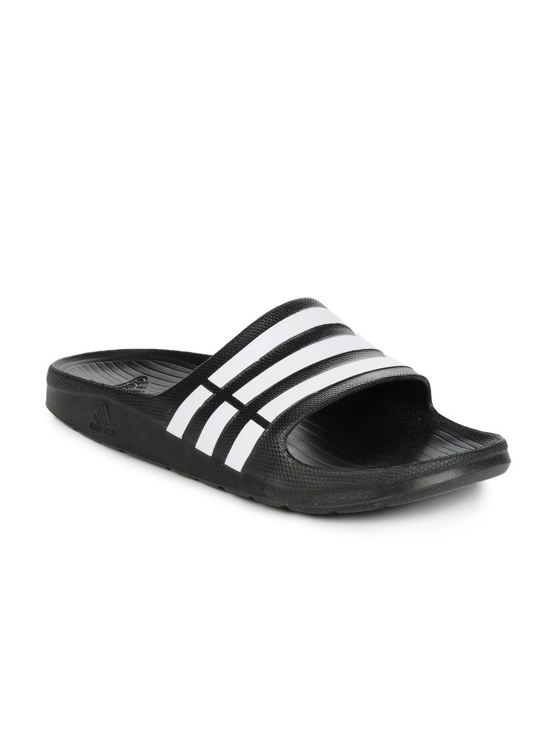 e58e50b95 Adidas Duramo Slide Flip Flops Black Price in India- Buy Adidas Duramo Slide  Flip Flops Black Online at Snapdeal