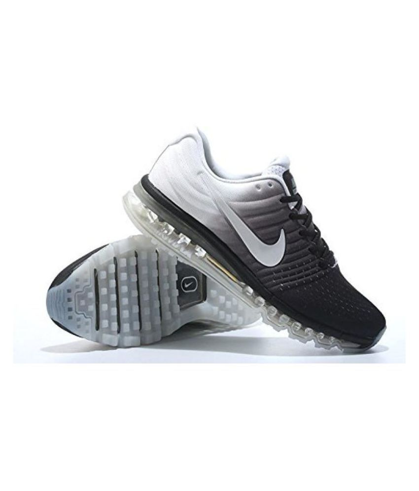 02826ae46613 Nike Airmax 2017 LTD Edition Black White Multi Color Running Shoes ...