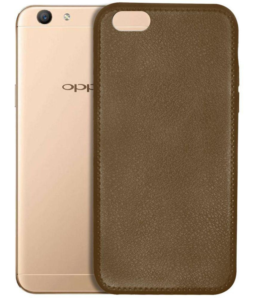 Oppo F1s Plain Cases Knotyy - Brown