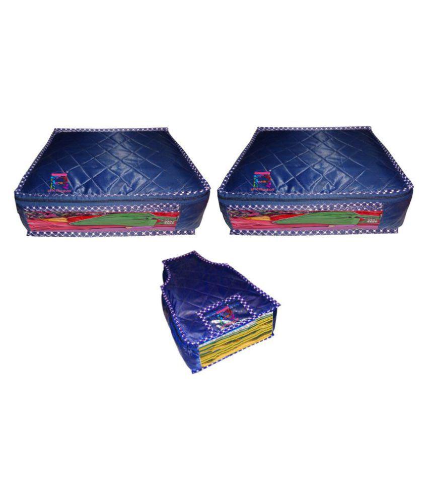 atorakushon Blue Saree Covers - 3 Pcs