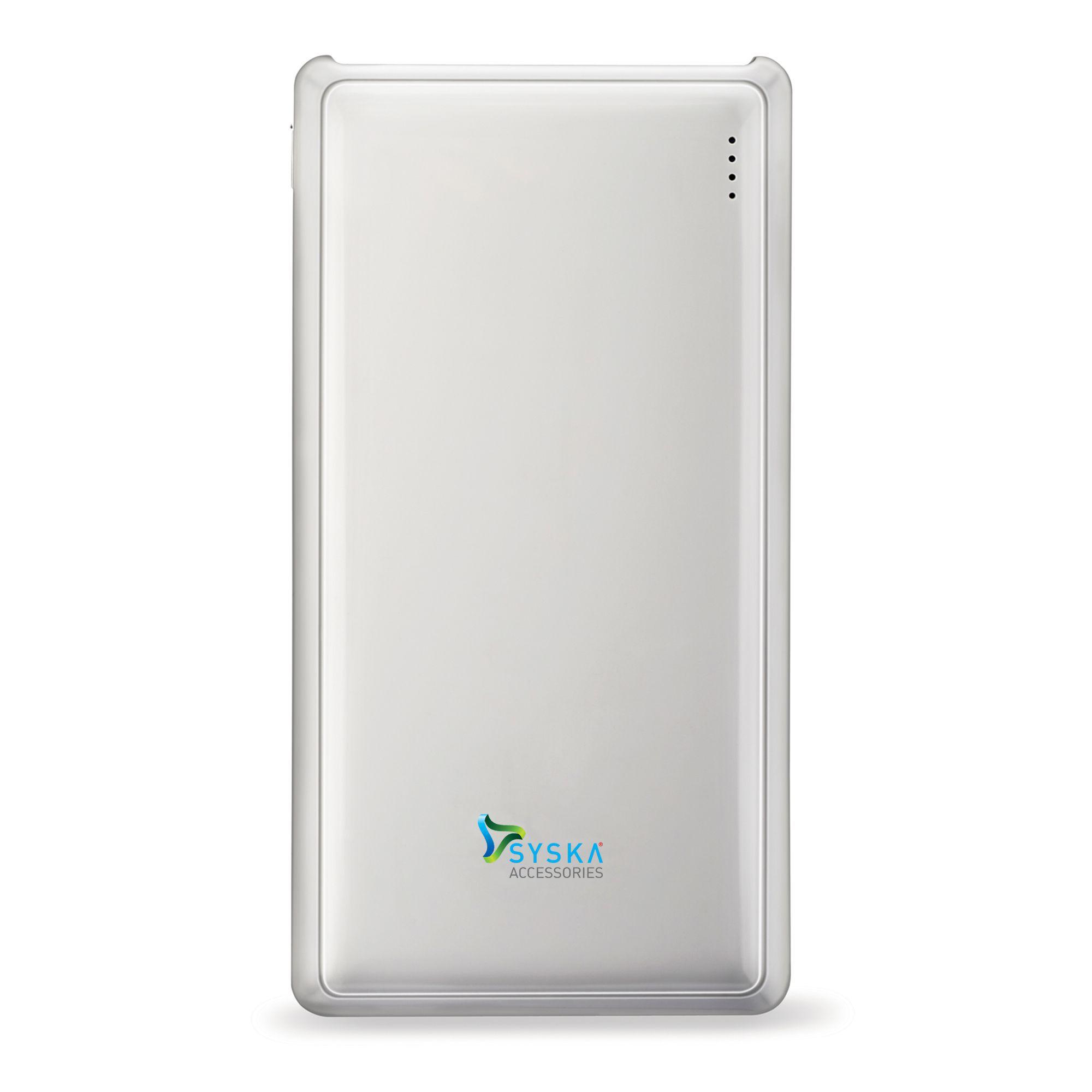 Syska Power Pro 200 20000 -mAh Li-Polymer Power Bank White